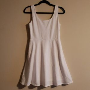 White Mossimo Fit and Flare Skater Dress